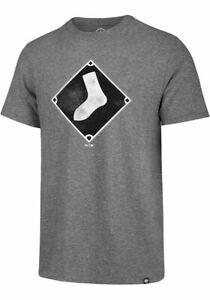 47 Chicago White Sox Grey Match Short Sleeve Fashion T Shirt Vintage Men Gift...