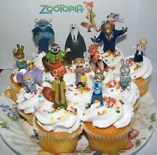 Disney Zootopia Deluxe Cake Toppers  Set of 13 Figures Party Decorations