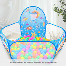 KQ_ Kids Ball Pool, Ball Pit House Hideaway Pop-Up Play Tent Cubby House - Outdo