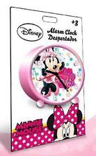 Reloj Despertador Minnie Disney Original Qué lindo de Dormitorio niños Sonrisa
