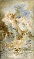Francisque DESPORTES (1849-1909) France Modern  Original Oil Painting