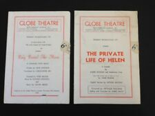 2 GLOBE THEATRE PROGRAMMES 1950 Ring around the Moon & The Private Life of Helen