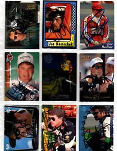 NASCAR champions authentic autographed 36 card lot NO RESERVE