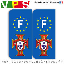 Stickers Portugal fpf pour plaque F (jeu de 2 stickers)