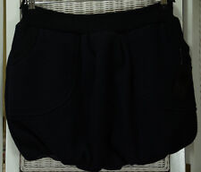 "BELLANINA London Bubble Skirt M 29"" Waist Short Black Wool Puffball Skirt 16""L"