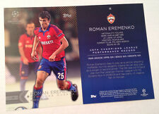 2016 Topps UEFA Champions 5x7 GOLD (#/10 Made) ROMAN EREMENKO Moskva Russia #45