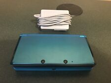 New listing Nintendo 3Ds Console - Aqua Teal Blue & Charger- Tested