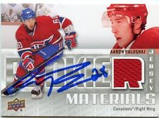 AARON PALUSHAJ CANADIENS AUTOGRAPH AUTO 11/12 UPPER DECK ROOKIE MATERIALS *33605