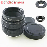 35mm F/1.7 C mount CCTV lens for Fujifilm Fuji X-Pro1 E1 E2 T1 T10 Camera macro