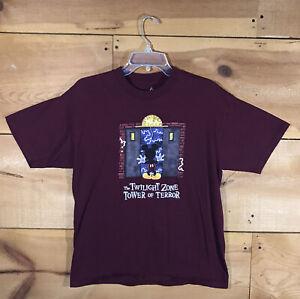 Vintage Disney The Twilight Zone Tower Of Terror T-Shirt Youth Sz XL 1990s RARE