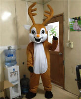 Deer Mascot Costume Reindeer Adult Parade Cosplay Party Dress Christmas Outfits