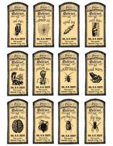 12 x  Potion labels