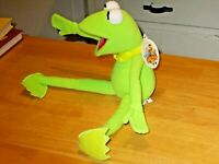Vintage Kermit the Frog Plush Muppet Vision 3D Walt Disney World tags preowned