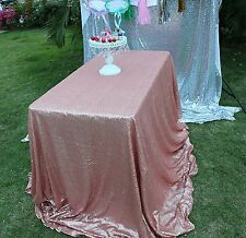 Sparkle Blush 60x102inch Sequin Rectangular Tablecloth For Wedding/Party/Banquet