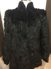 Somerset Furs Los Angeles Black Pure Rabbit Fur Coat Women's Size Medium