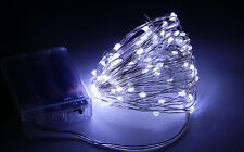 20 30 40 50 100 LEDs Battery Operated string fairy lights copper Christmas Xmas