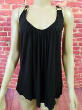 JOIE sexy Tank Top With Chain Straps Racer back Black Size Medium
