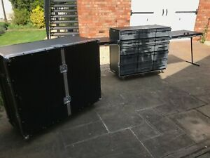 Roll Cabinet / Flight Cases With Storage Boxes / Flight Case Work Station