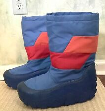 Vintage 80's Moon Boots Blue,Orange and Red Women's Size 7-8