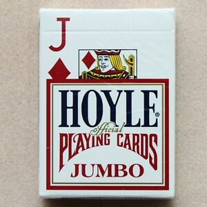 """HOYLE """"JUMBO"""" Playing Cards Sealed New In Box """"RED"""" USA SHIPS FREE"""