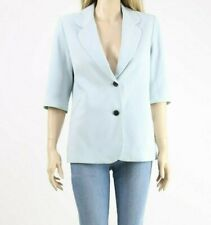 Gianni Feraud Ice Blue Single Breasted Casual 3/4 Sleeve Work Blazer UK 12 40