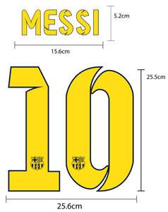 FC Barcelona Home 2014-15 PU FOOTBALL SOCCER NAME NUMBER PRINT
