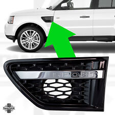 Chrome+Black side wing vents for Range Rover Sport 2010 HSE Autobiography grille