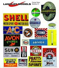 More details for paper enamel garage signs smf11n colour oo scale langley models decals 1/76