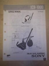 Sony Service Manual~ICB-1000 My First/Walkie Talkie Headphones~Original~Repair