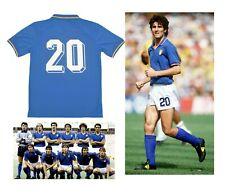 Maglietta ITALIA Mondiale 1982 maglia da calcio retro vintage 82 Paolo Rossi 20