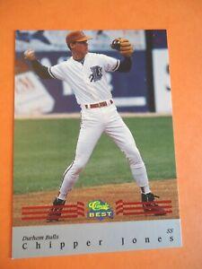 Chipper Jones, 1992 Classic Best Baseball card # BC7, Durham Bulls, shortstop
