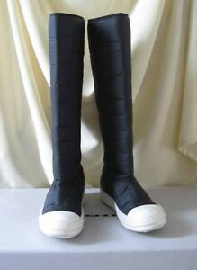 Rick Owens DRKSHDW NEW Ramones Sneakers Boots 38 Padded Tech Fabric Rubber Sole