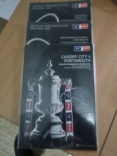 More details for fa cup final 2008 cardiff city v portsmouth + both semi final programmes new