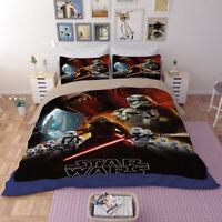 Star Wars 3D Design Bedding Set 3PC Of Duvet Cover Pillowcase Single Double King