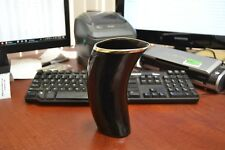 """BUFFALO HORN GAME OF THRONE MEDIEVAL DRINKING ALE CUP MUG 7"""" #H"""