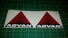 "2x 4"" wide advan bumper wing stickers decals jdm performance honda civic kanjo"