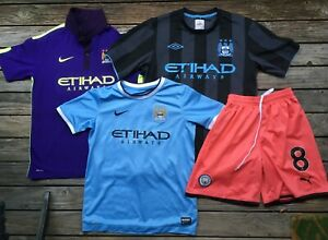 #65 Bulk Manchester City EPL Soccer Jerseys Shorts Clean Small Mens Large Boys