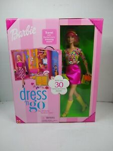 Barbie Dress n Go Ultimate Fashion Case Barbie Doll NRFB Mattel 2001 Travel room