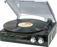 Roadstar Ttr-8633 Vintage Line Stand Alone Turntable With FM Stereo Radio
