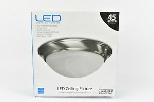 Feit Electric 73808 13 Satin Nickel Round LED Dimmable Ceiling Fixture
