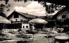 Grünwald Bayern 1962 Isartal Lokal Grünwalder Weinbauer Terrasse Stühle Gasthof