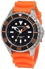 Nautica N18633G Mega Pro Diver Black Dial Orange Rubber Strap Men's Dive Watch