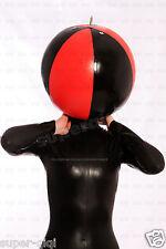 100% Latex/Rubber 0.45mm Inflatable mask hood catsuit suit black handmade unique