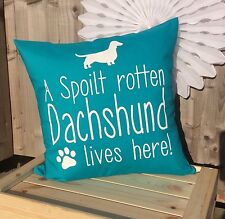 Dachshund Dog Cushion Cover, Funny Dog Quote, Lovable Dog Pet Pillow Cover