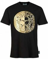 Men's Versace Jeans Couture T-Shirt Casual Gold Print Crew Neck Branded Size S-L
