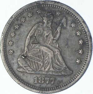 1877-S Seated Liberty Quarter - Charles Coin Collection *534
