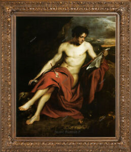 "Old Master Art Man Portrait of Saint John Dyck Oil Painting Unframed 30""x40"""