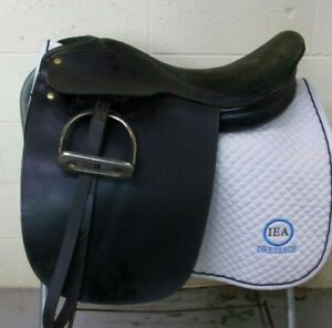 "QUALITY - English Cutback/Saddleseat SHOW Saddle - 20 1/2"" -Leathers/Irons -LOOK"