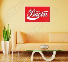 "Enjoy Bacon Coca Cola Funny Logo Slogan Wall Sticker Room Interior Decor 25""X18"""