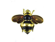 Simply Beautiful Little Bumble Bee Gold Pin Brooch